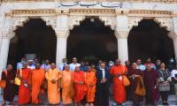 On trip to Pakistan, Buddhist monks make a visit to Badshahi mosque, Lahore Fort