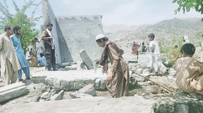 Seven children killed, one injured as water tank walls collapse in Mohmand District