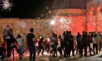80 injured as Palestinians, Israeli police clash again in Jerusalem
