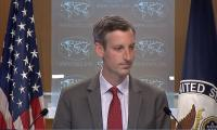 Watch: US State Dept spokesperson faces tough questions after defending Israeli air strikes