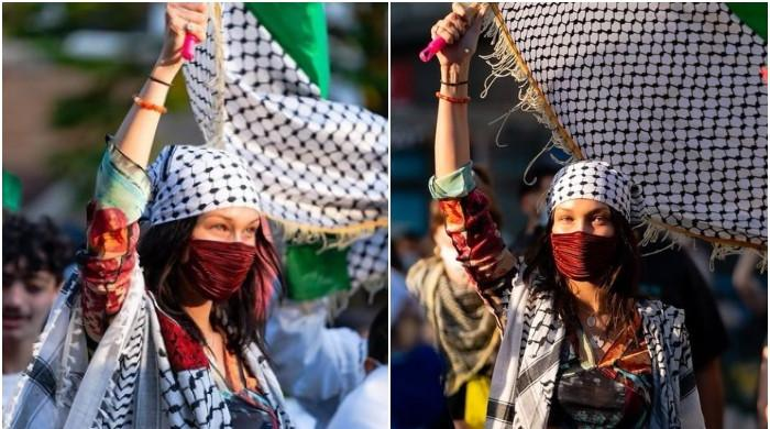 Bella Hadid marches for Palestine: 'From the river to the sea, Palestine will be free'