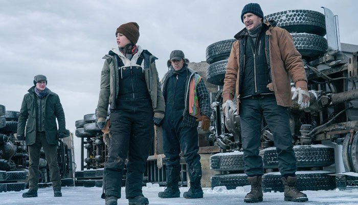 Liam Neeson unleashes tension in the trailer for the upcoming Netflix movie The Ice Road