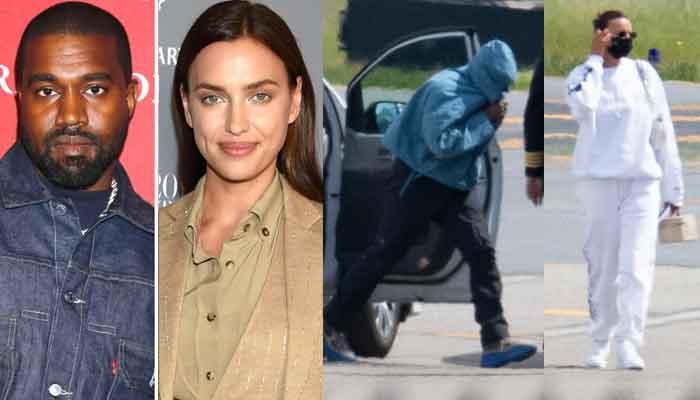 Kanye West and Irina Shayk make failed attempt to avoid paparazzi at Teterboro Airport