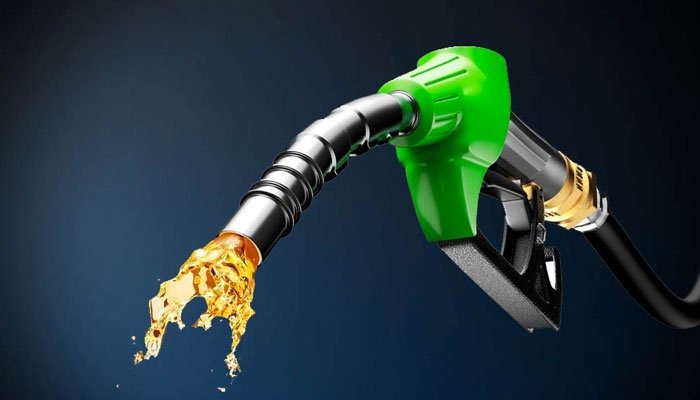 Petrol can be seen coming out of a petrol nozzle in this illustration. — File photo