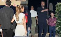 Ben Affleck enjoys dinner with Jennifer Lopez and her twins in Malibu