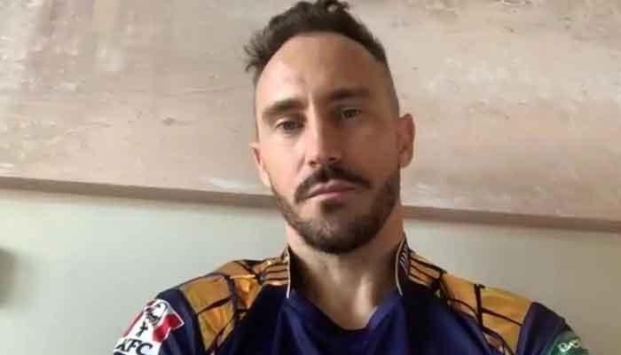 Gladiators Faf du Plessis ruled out of PSL after concussion