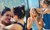 Video: Priyanka Chopra plays with niece in swimming pool