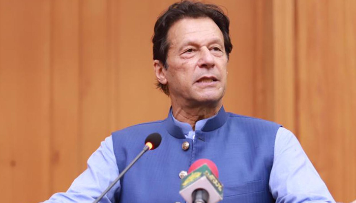 Prime Minister Imran Khan addressing an event. — PID/File