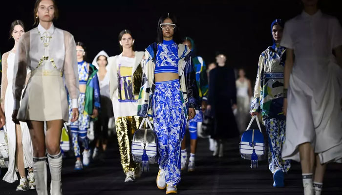 Dior returns to live shows with traditional Greek dress collection