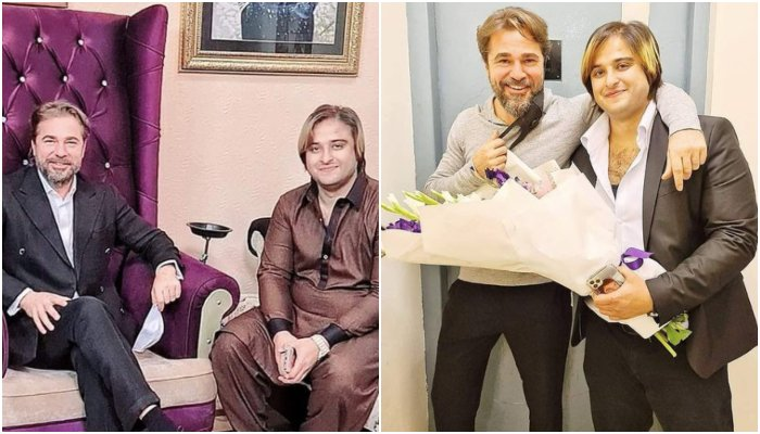 Photo: The Turkish celebrity was apparently invited by a Tiktoker Kashif Zameer who reportedly owns a private company in Pakistan. Photo Courtesy: Instagram/MianKashifZameerCahudhry.