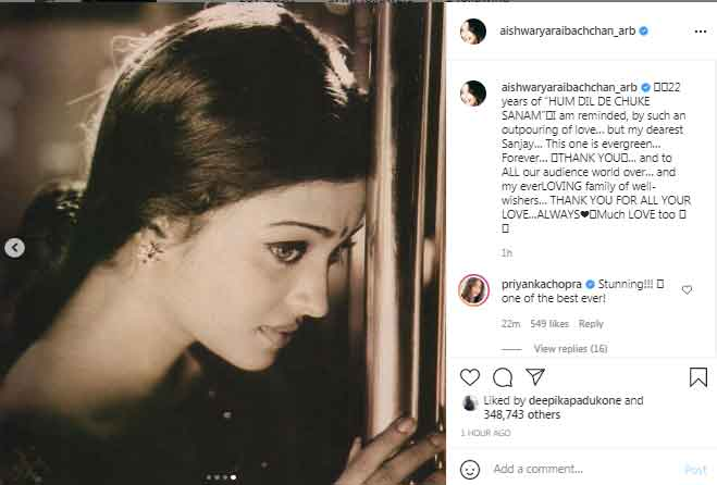 Aishwarya Rai ignores Salman Khan as she celebrates 22 years of Hum Dil De Chuke Sanam