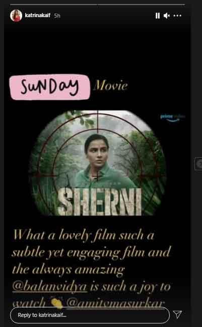 Katrina Kaif reacts to Vidya Balans Sherni