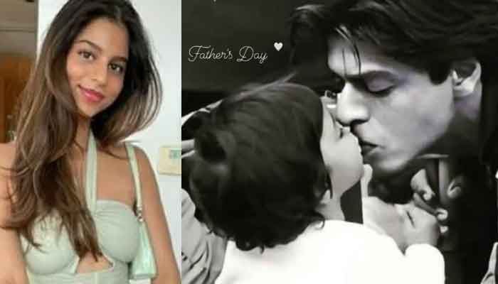 Shah Rukh Khan's daughter Suhana Khan surprises dad on Fathers Day