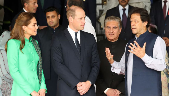 Prince William and Kate Middleton with Prime Minister of Pakistan Imran Khan and Foreign Minister Shah Mehmood Qureshi