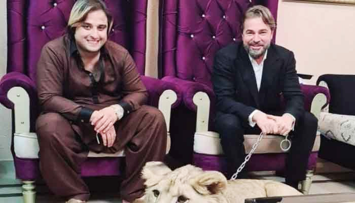 TikToker Kashif Zameer Chaudhry (left) andTurkish actor Engin Altan Düzyatan. — File photo