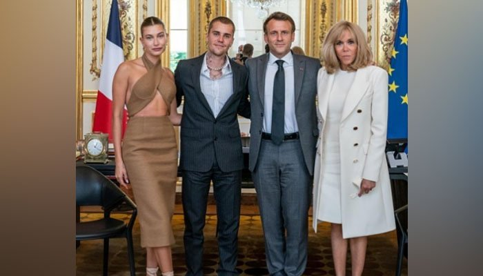 Justin Bieber, Hailey Bieber snapped with French President Emmanuel Marcon