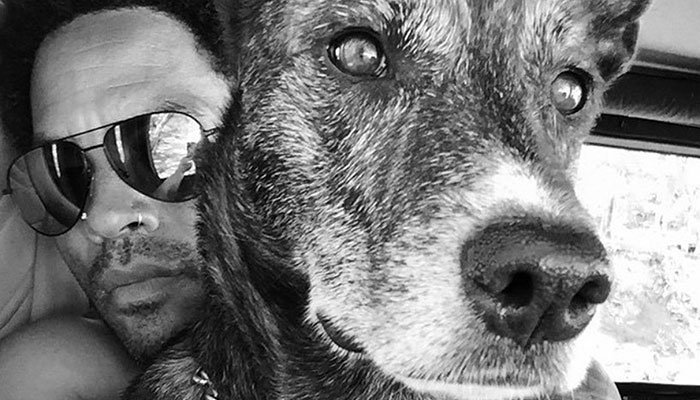 Lenny Kravitz pens touching note after losing pet dog