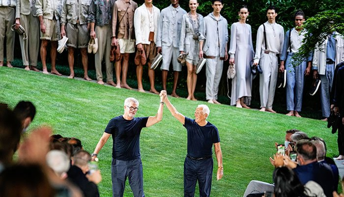 Giorgio Armani wraps up first mens fashion week after pandemic