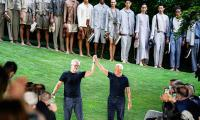 Giorgio Armani wraps up first men's fashion week after pandemic