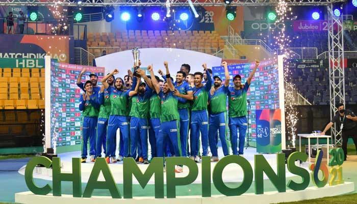 The new PSL champions Multan Sultans.