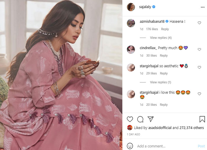 Sajal Aly leaves Bollywood star Shabana Azmi in awe with her beauty