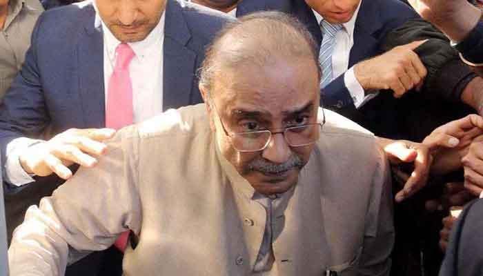Former president Asif Zardari.