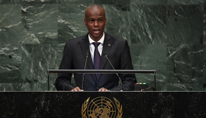 In this file photo taken on September 27, 2018 Jovenel Moise, President of Haiti, addresses the 73rd session of the General Assembly at the United Nations in New York. — AFP