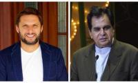 Shahid Afridi pays tribute to Bollywood legend Dilip Kumar