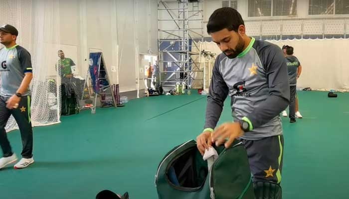 Mohammad Rizwa during practice session.