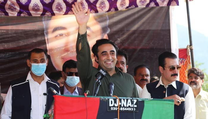 PPP Chairman Bilawal Bhutto-Zardari at Azad Jammu and Kashmirs Haveli District, on July 8, 2021. — Twitter/PPP