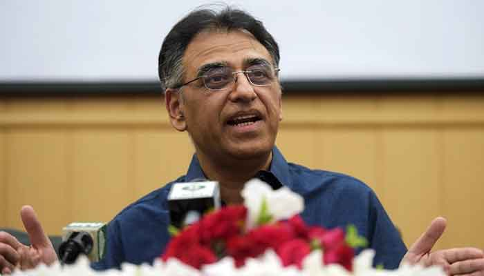Chief of the National Command and Operation Centre (NCOC) Asad Umar. — AFP/File