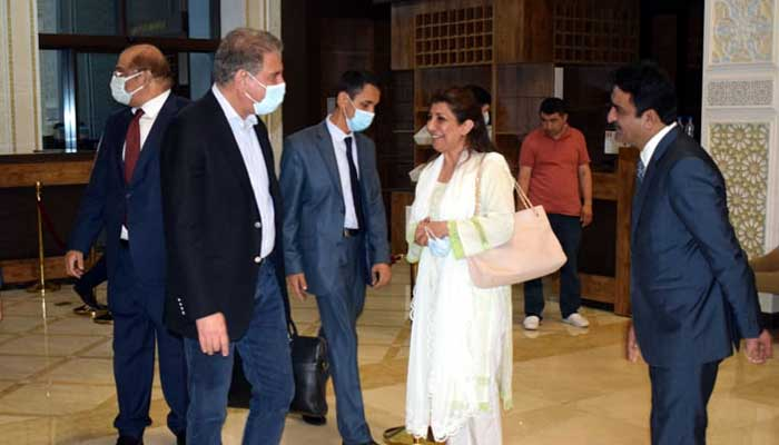 Foreign Minister Shah Mahmood Qureshi arrives in Dushanbe. Radio Pakistan