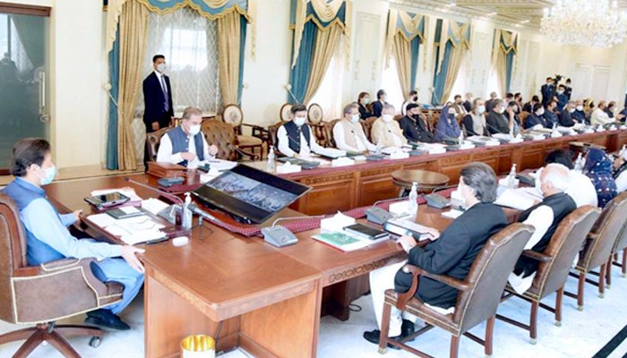 Prime Minister Imran Khan chairing a federal cabinet meeting in Islamabad, on May 4, 2020. — APP/File