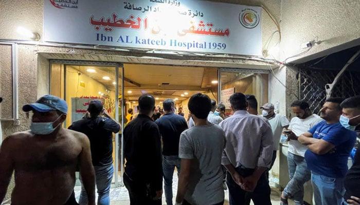 Dozens killed in Iraq Covid hospital fire: health official
