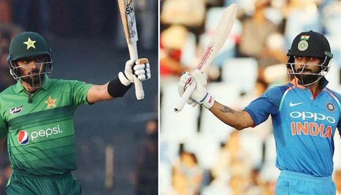 Pakistan skipper Babar Azam and India captain Virat Kohli. — File photo