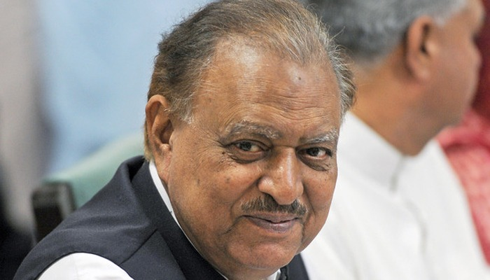 In this file photo, former president Mamnoon Hussain can be seen in Islamabad on July 24, 2013. — AFP/File