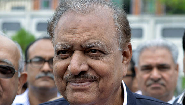 File photo of Mamnoon Hussain. — AFP