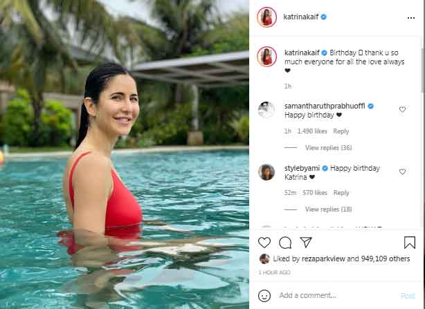 Katrina Kaif extends gratitude to fans for birthday wishes as she turns 38