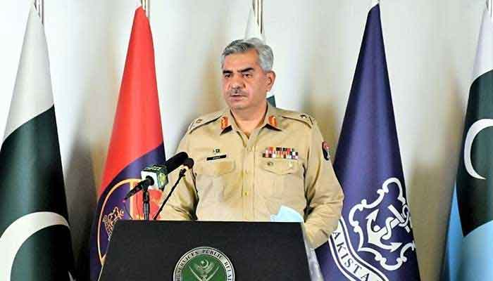 Director General Inter-Services Public Relations Maj Gen Babar Iftikhar addressing a press conference in Rawalpindi on October 29, 2020. — NNI/File