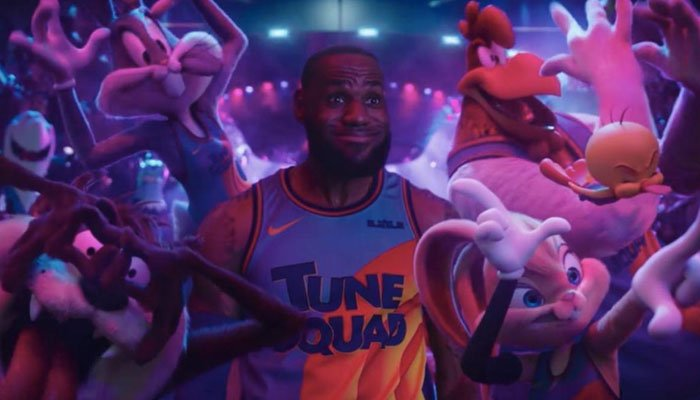 The movie has NBA superstar LeBron James teaming up with Bugs Bunny and other Looney Tunes characters