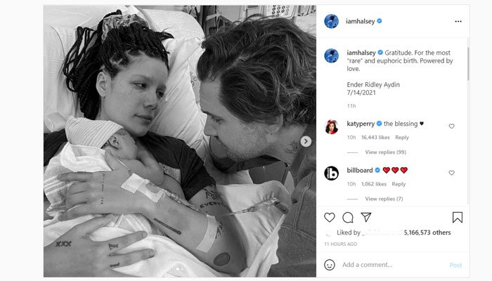 Halsey gives birth to baby boy, Ender