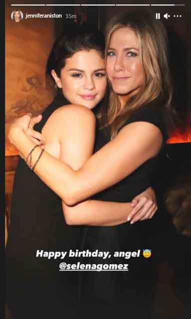 Jennifer Aniston wishes Selena Gomez on her birthday