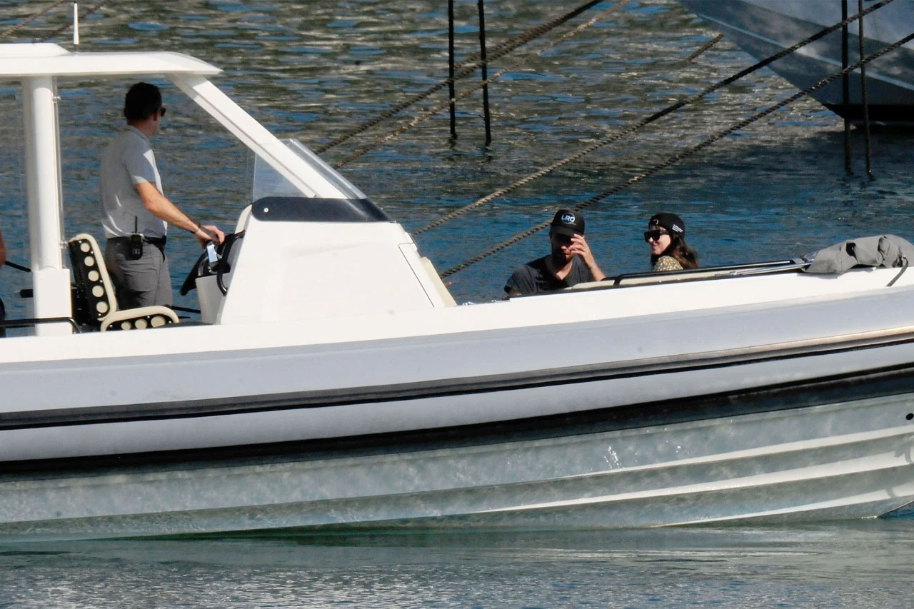 Pictures: Dakota Johnson, Chris Martin papped amid boat ride in Spain