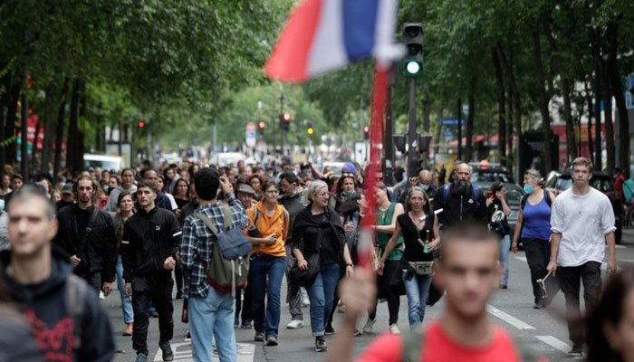 Anti-Covid restrictions protests held in many countries