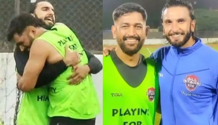 Ranveer Singhs excitement over being in the presence of MS Dhoni left the internet in splits