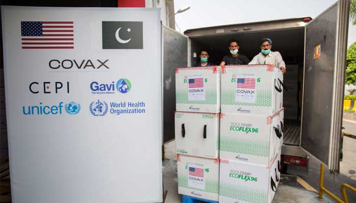 File photo of COVAX consignment in Islamabad.