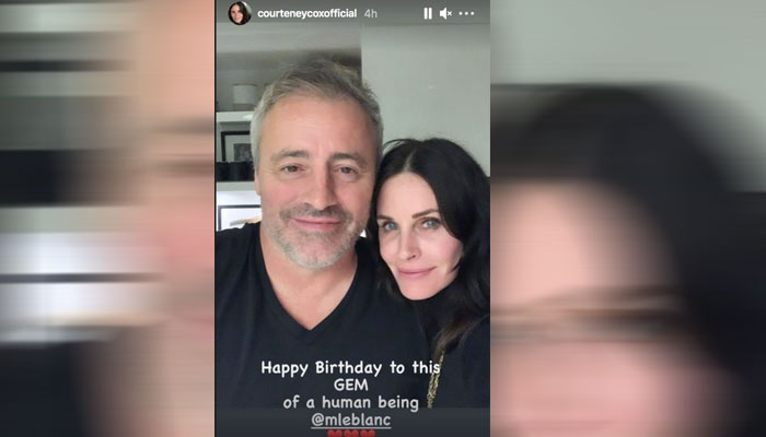 Courteney Cox shares a birthday tribute for 'Friends' pal Matt LeBlanc