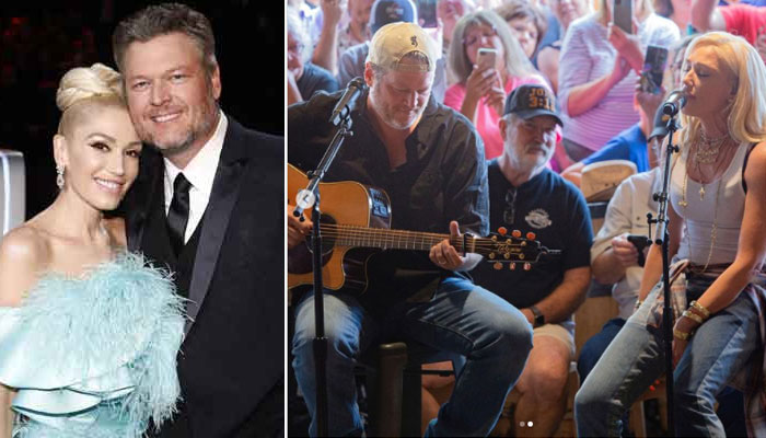 Blake Shelton introduces his wife Gwen Stefanis new name during their duet