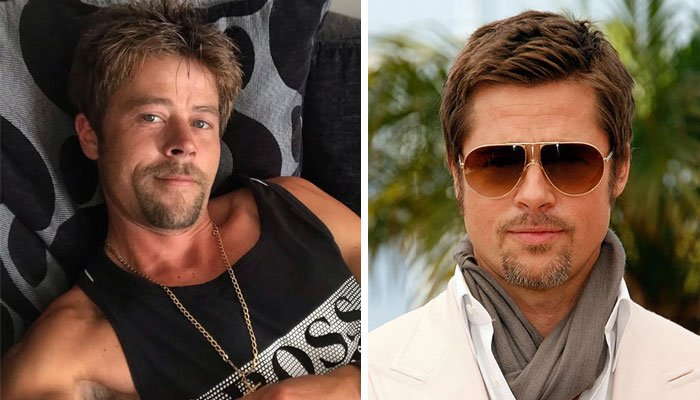 Resemblance to Brad Pitt has made Meads dating life quite problematic