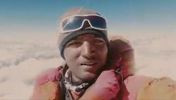 Sajid Ali Sadpara, the son of legendary mountain climber Mohammad Ali Sadpara. Photo: Screengrab